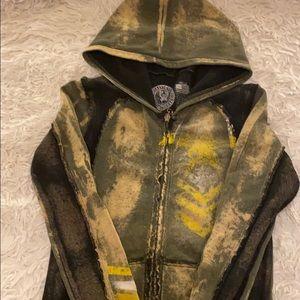 Worn once distressed hoodie